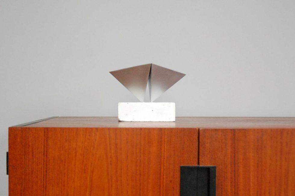 Rudolf Wolf Abstract modern sculpture 1972