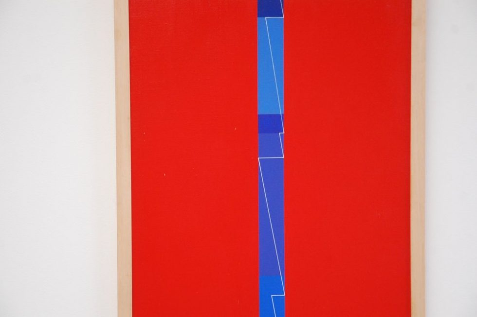 Geometric painting by Leopold Leclercq 1973