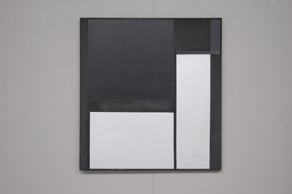 Rudolf Wolf abstract modern board Painting 1980