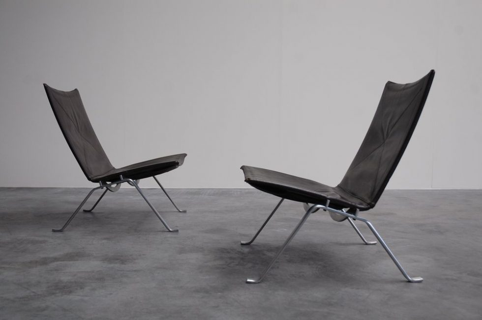 Poul Kjaerholm PK22 pair for E. Kold Christensen 1955