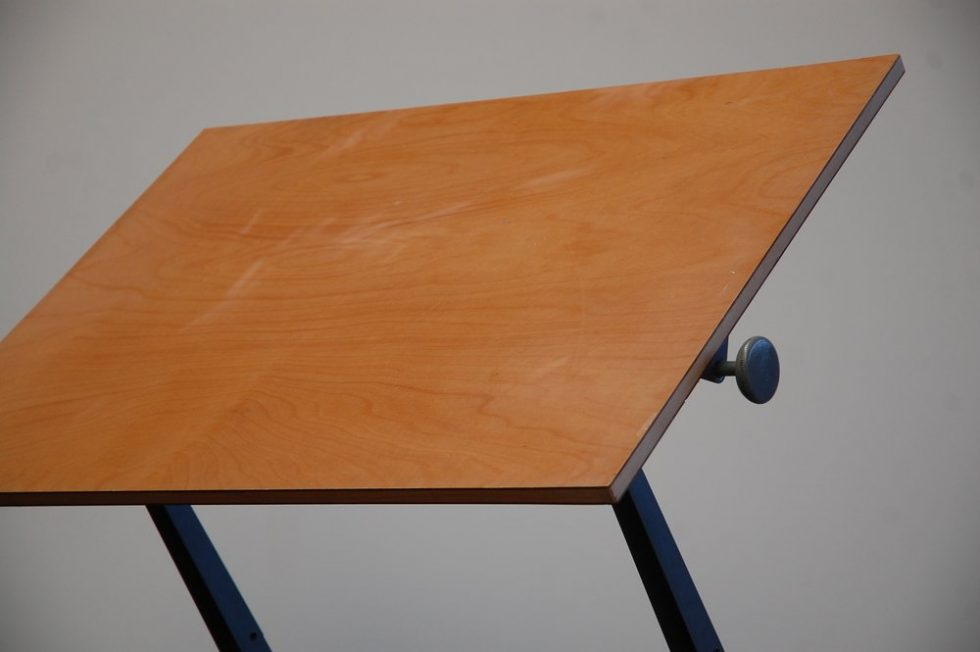 Wim Rietveld and Friso Kramer drafting table for Ahrend de Cirkel 1963