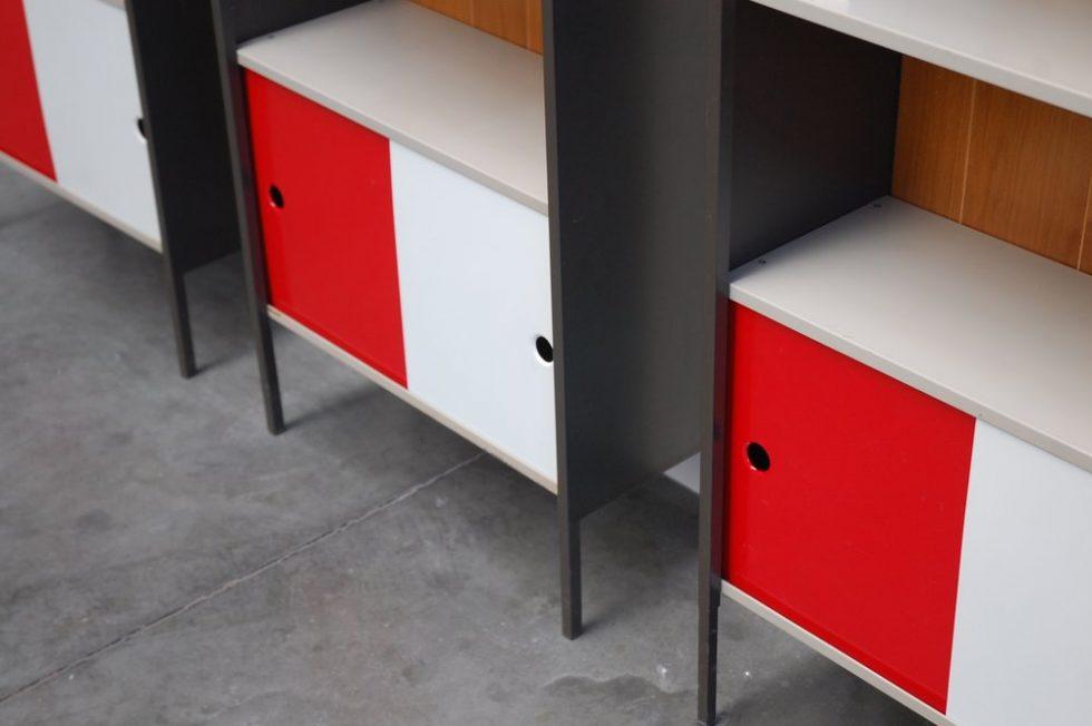 Coen de Vries for Pilastro bookcases set of 3, 1962
