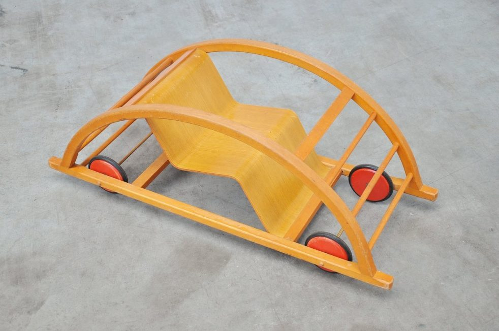 Hans Brockhage Kids car / rocking chair Germany 1950