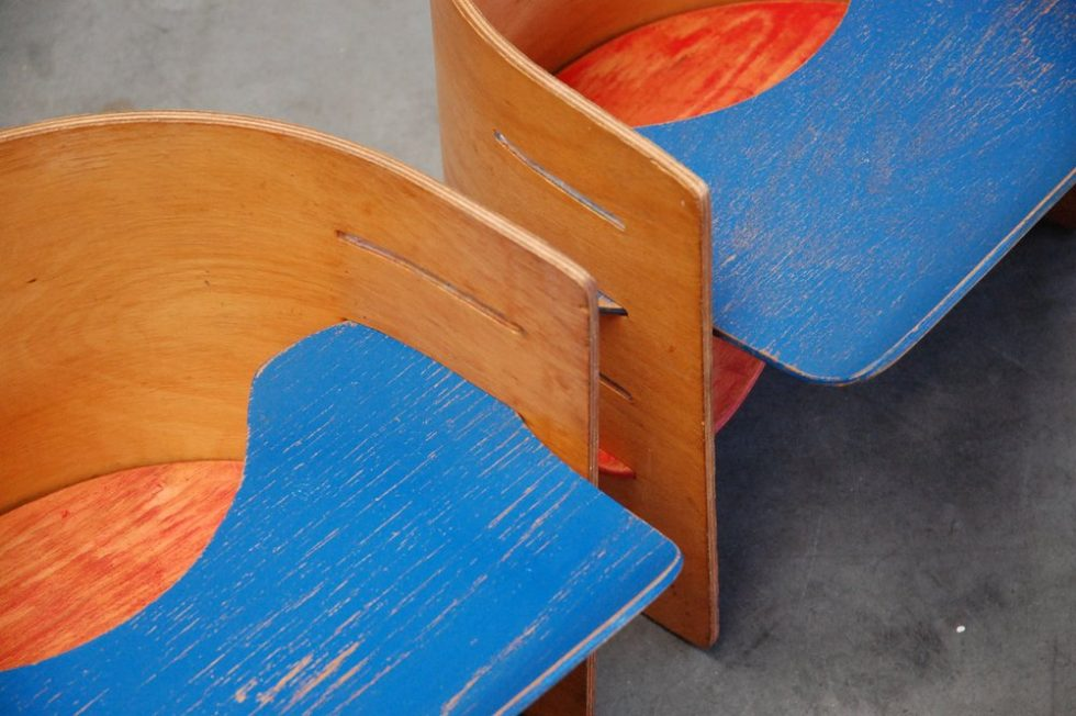 Pair kids chairs Kristian Solmer Vedel 1957