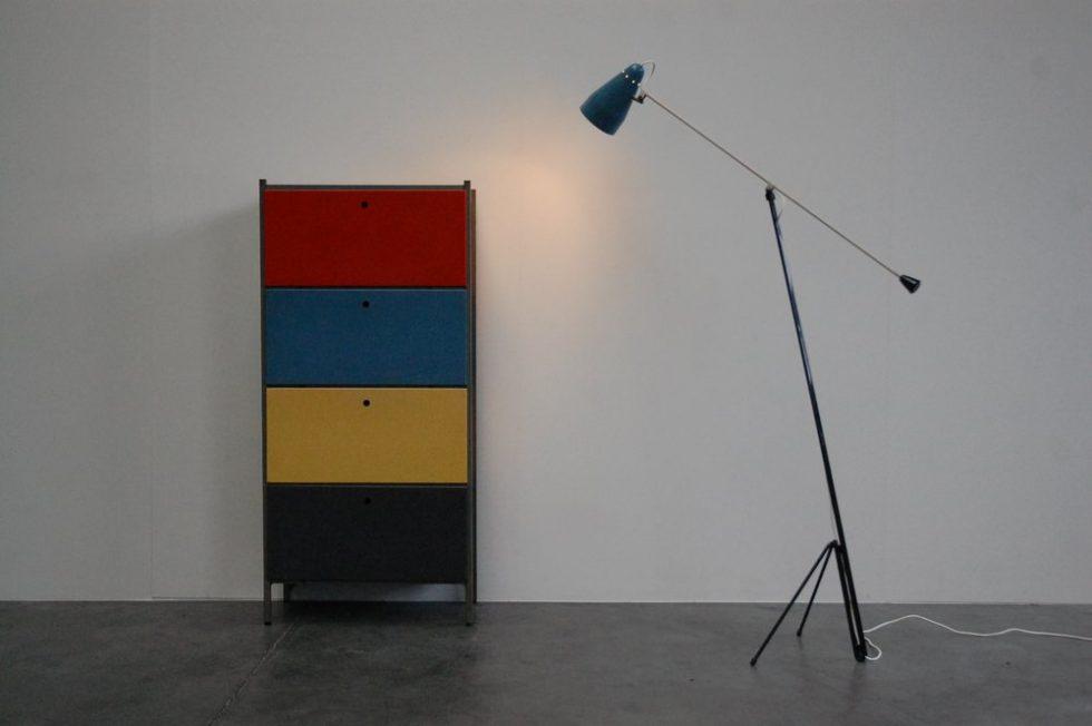 Wim Rietveld Gispen floor lamp 1953