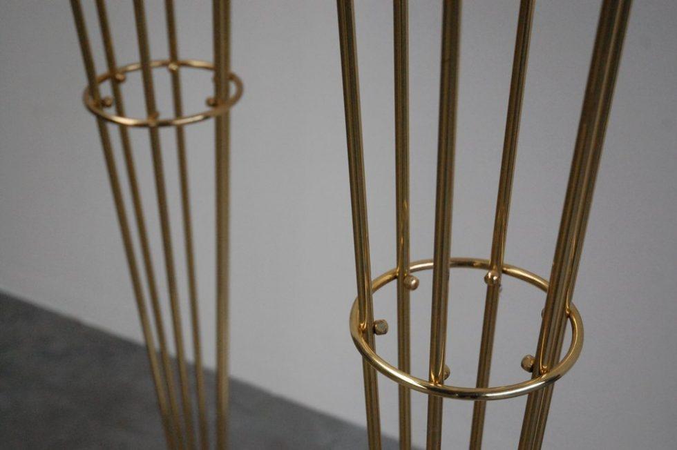 Stilnovo floor lamps marble brass, Italy 1960