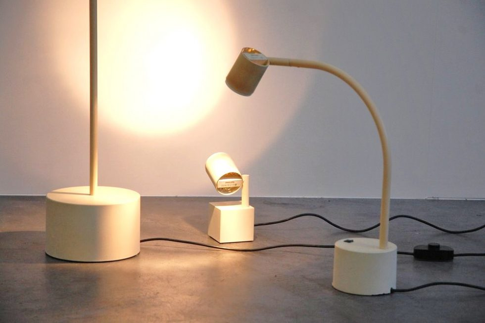 Ettore Sottsass 'Halo Click' lamp SET for Philips 1988