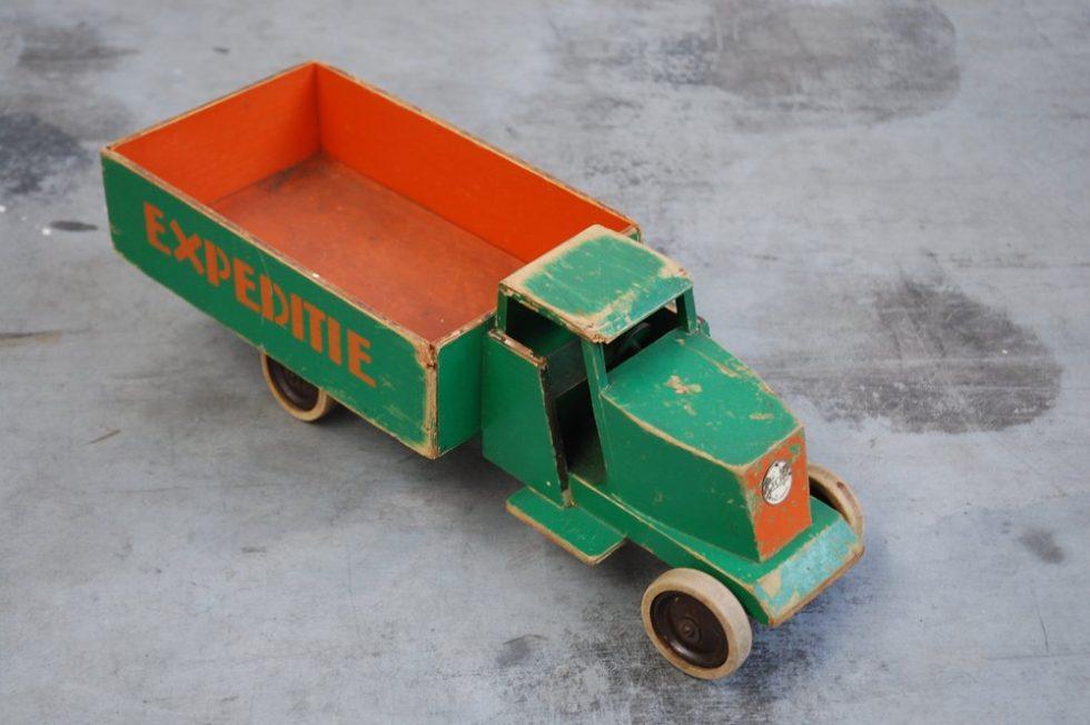 Decorative toy truck by Ko Verzuu for ADO ca 1940s