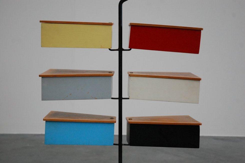 Large Metalux storage stand by J Teders 1958