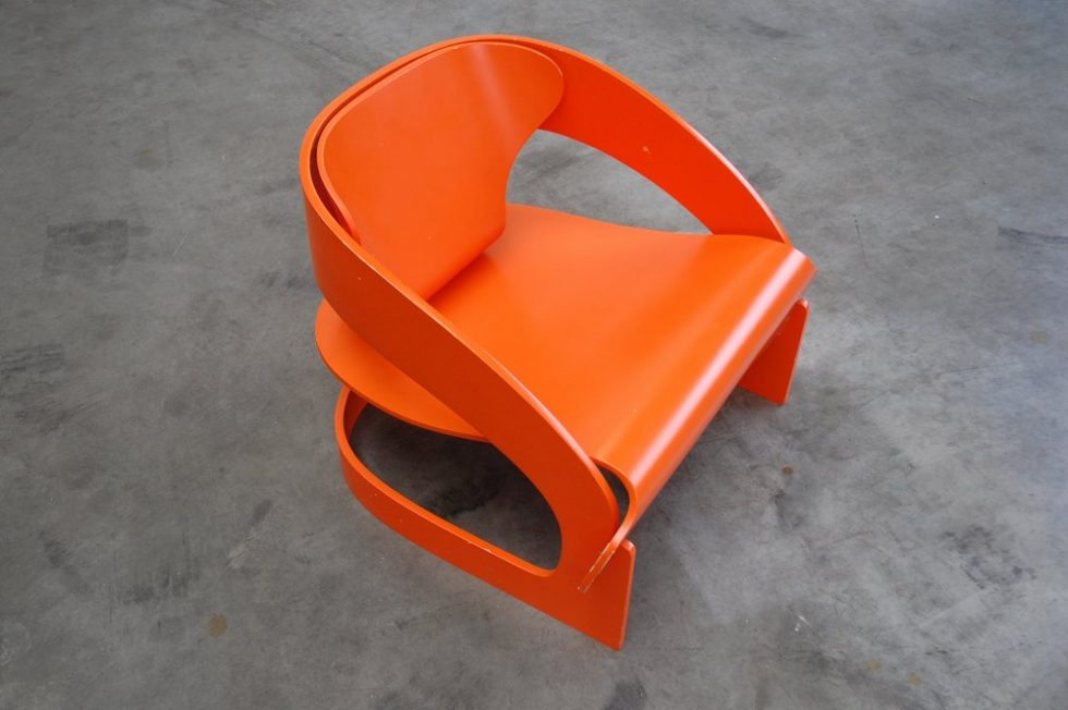 Joe Colombo arm chair 'no. 4801 ' for Kartell 1964