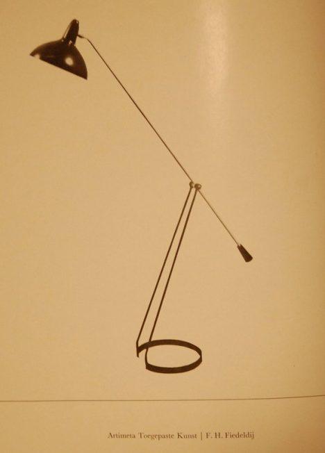 Fiedelij floor lamps for Artimeta 1959