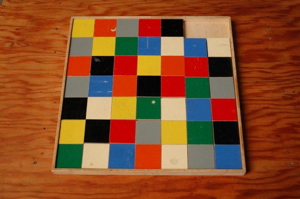 Ado Ko Verzuu slide puzzle for ADO ca 1940s