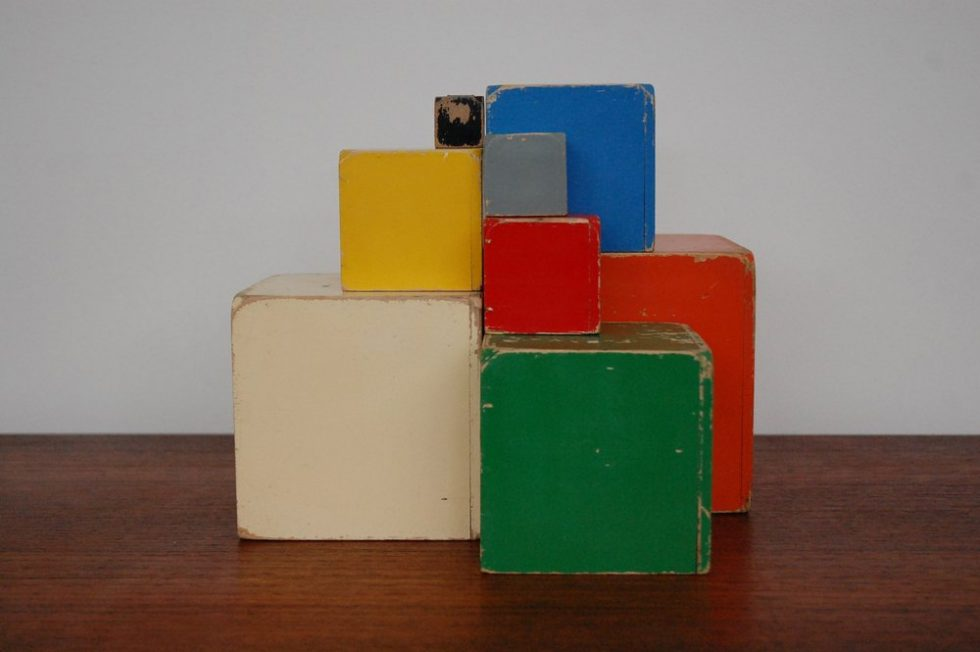 Ado Ko Verzuu Decorative cubes ca 1950s
