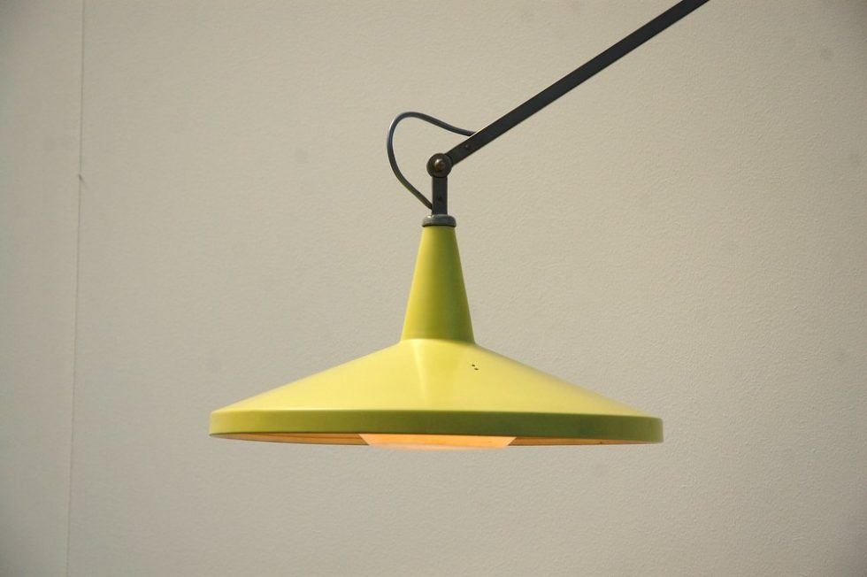 Wim Rietveld Panama wall lamp for Gispen 1955