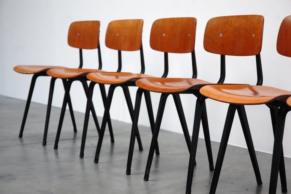 Friso Kramer Revolt chairs set of 6 for Ahrend de Cirkel 1958