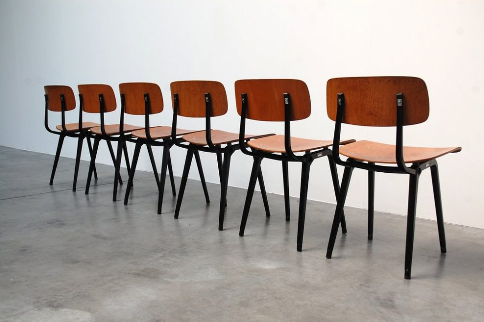 Friso Kramer Revolt chairs set of 6 for Ahrend de Cirkel 1958