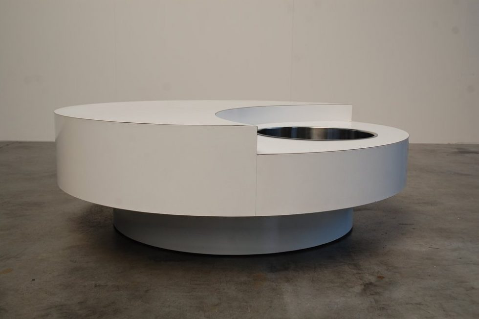 Willy Rizzo bar table by Cassini 1970
