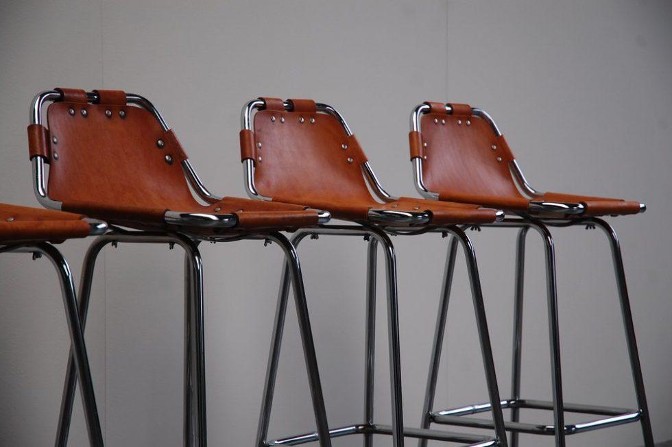 Charlotte Perriand bar stools for Ski Resort Les Arcs 1960
