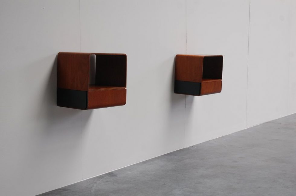 Friso Kramer 'Euroika' bed cabinets for Auping 1963