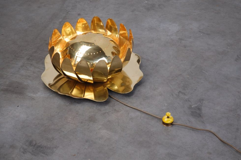 Christine Afedo decorative floor lamp for Cittone Oggi 1970