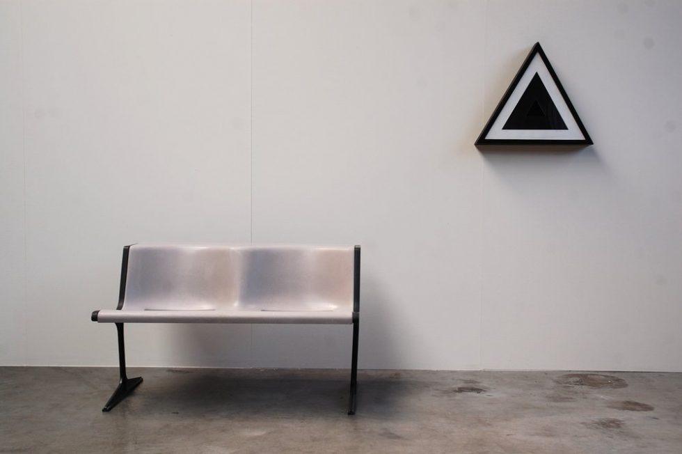 Kees Meijer Geometric triangle wall sculpture 1975