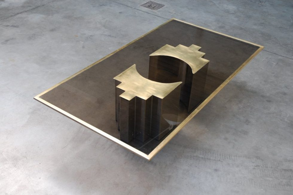 Christian Heckscher coffee table Unique Piece 1972