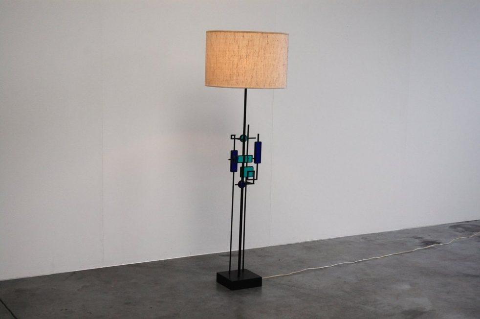 Svend Aage Holm Sorensen sculptural floor lamp, Denmark 1960