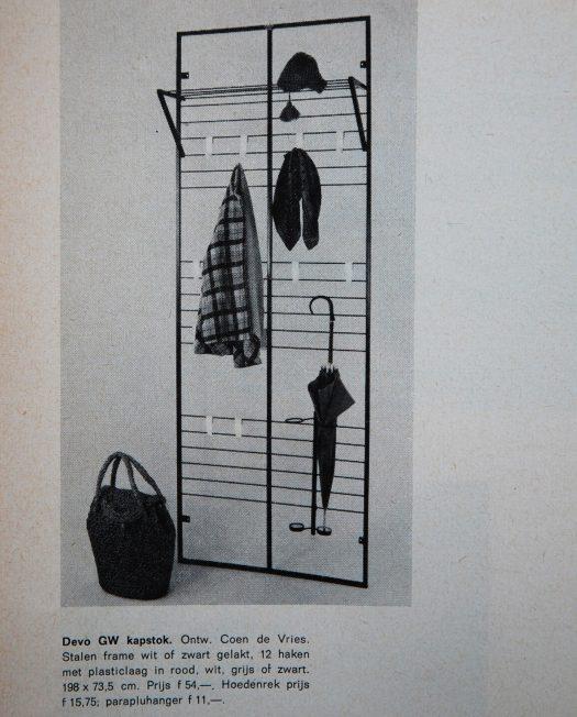 Coen de Vries coat rack for DEVO 1956