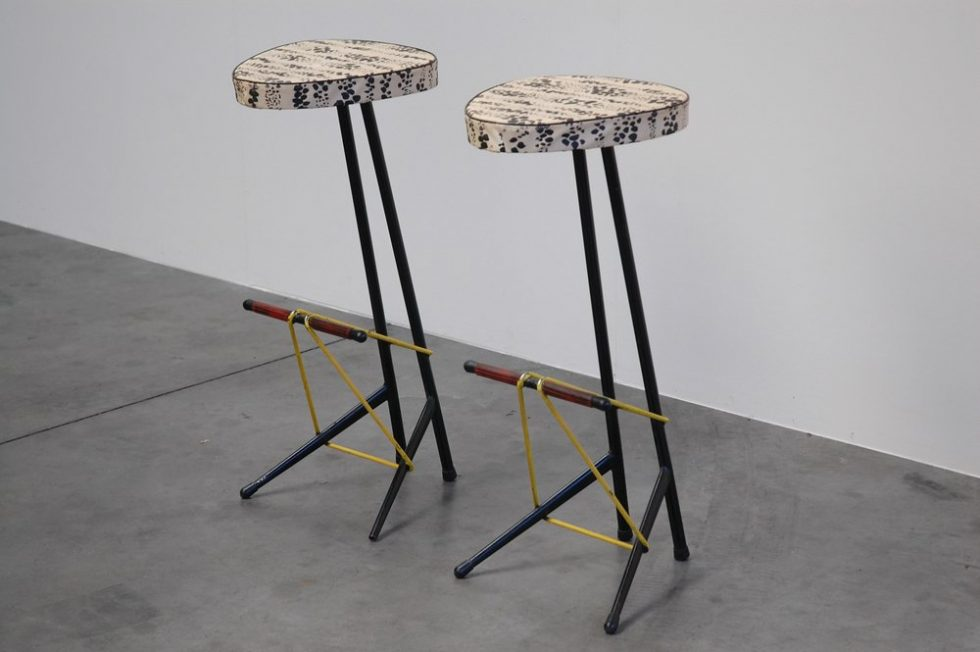 Willy van der Meeren bar stools for Tubax, Belgium 1950