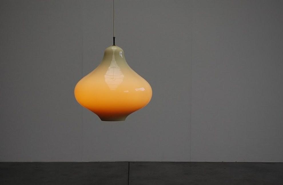Massimo Vignelli Venini lamp HUGE, Murano Italy 1960
