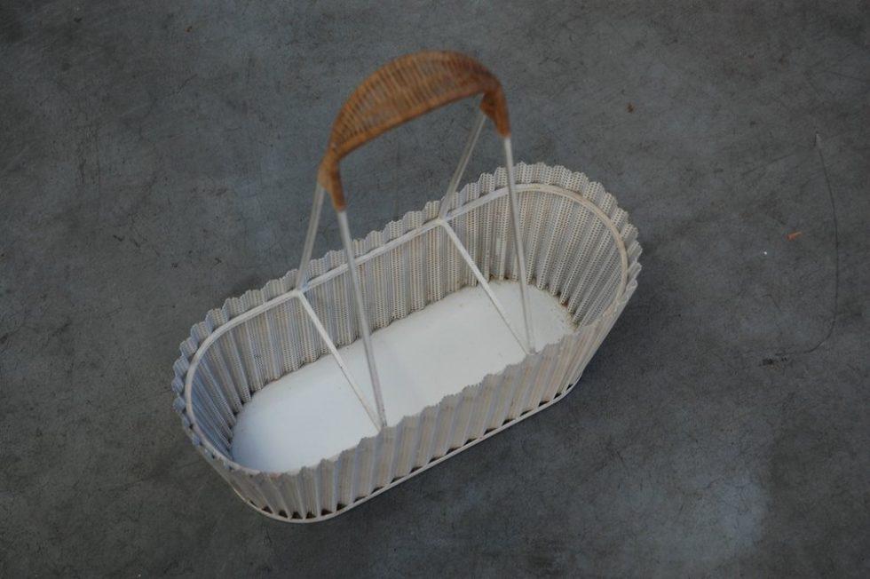 Mathieu Mategot decorative folded bottle basket, Artimeta Soest 1955