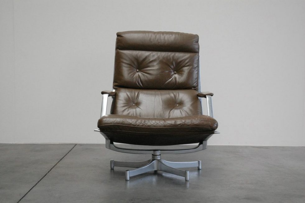 FK85 Preben Fabricius and Jorgen Kastholm lounge chair, Kill international 1963
