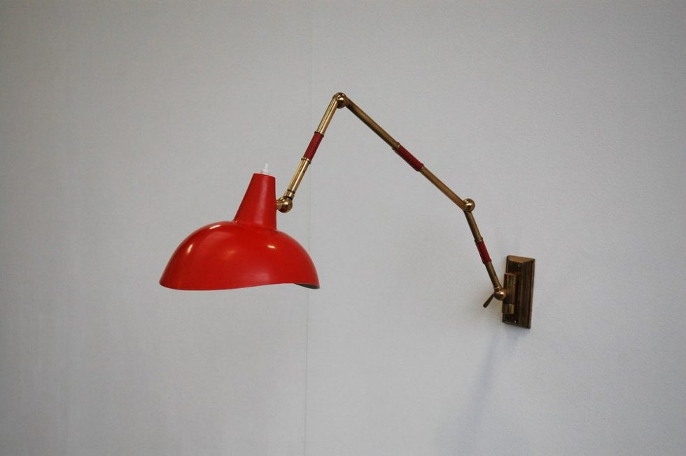 Stilnovo articulating wall lamp Italy Milano 1950