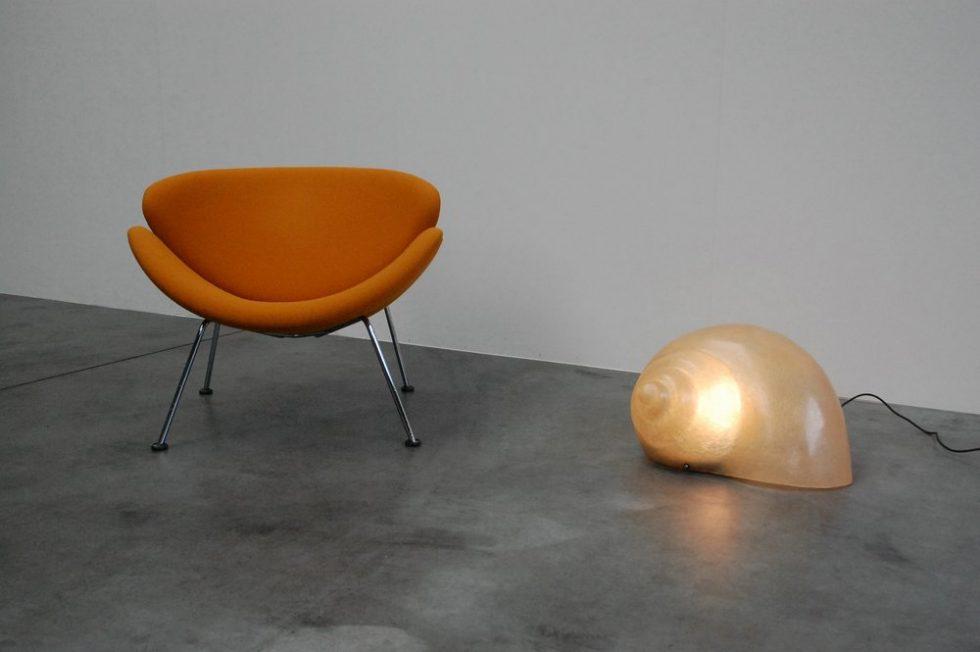 Sergio Camilli Snail lamp for Bieffeplast 1974