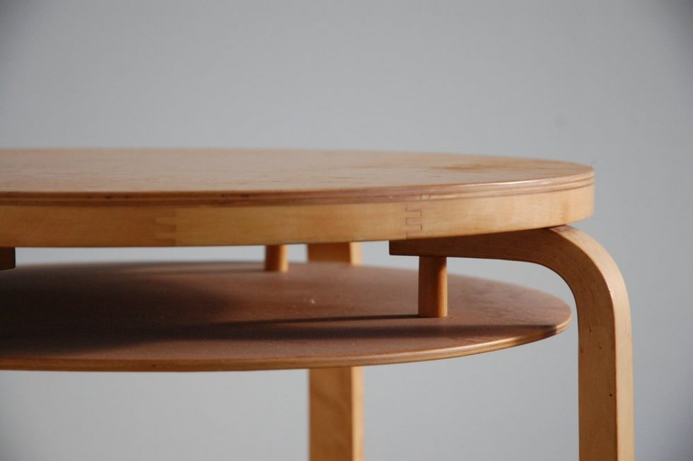 Alvar Aalto L-Leg table No. 70 for Finmar 1950