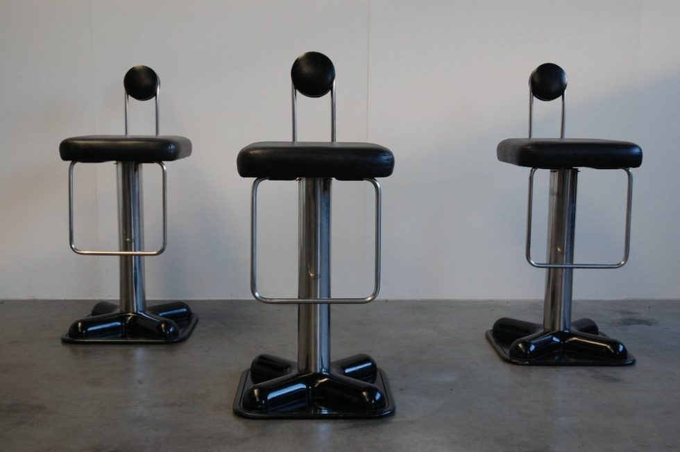Joe Colombo Birillo bar stools for Zanotta 1971