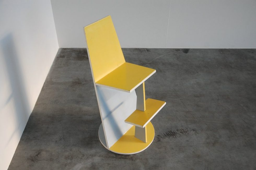 High modernist kids chair, influenced by De Stijl ca 1950