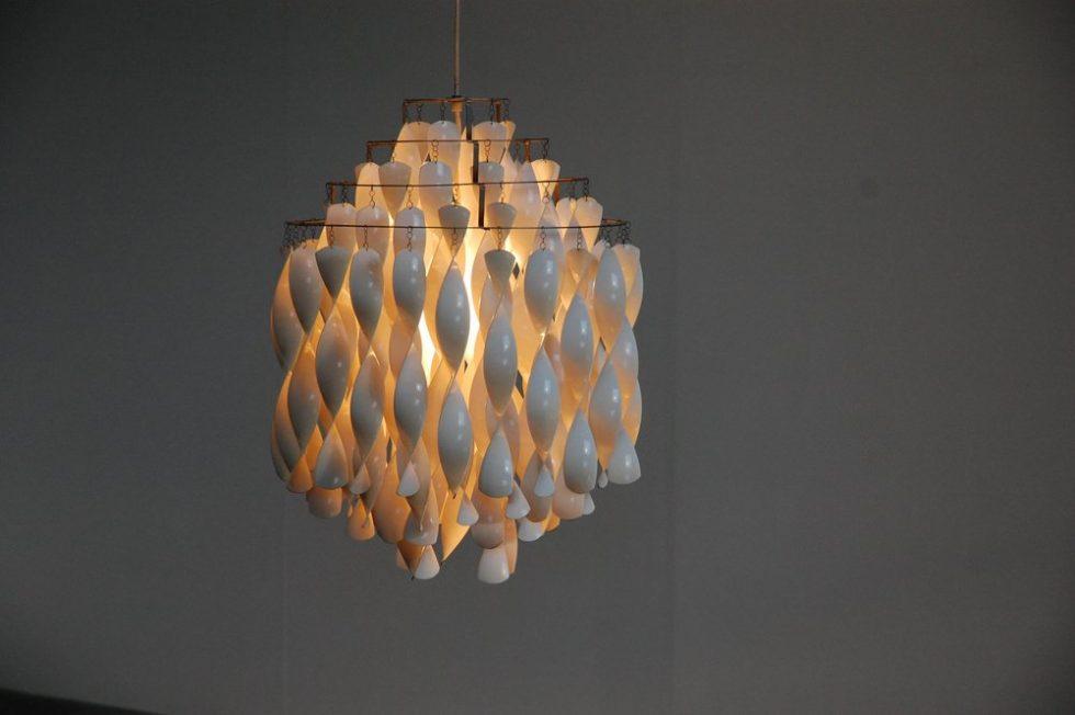 Verner Panton SP1 Spiral lamp for J Luber 1970