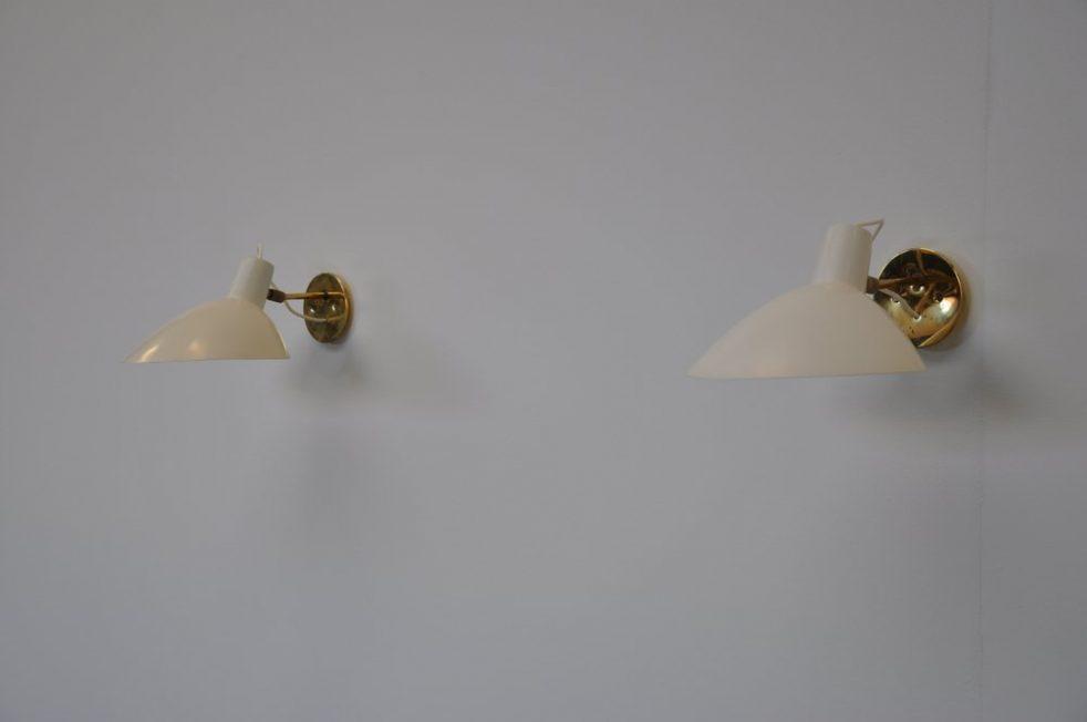 Arteluce Vittoriano Vigano sconces pair, Italy 1950