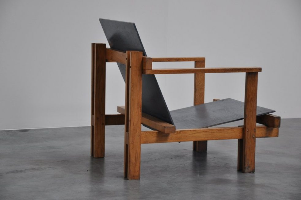Jan de Jong modernist chair 1960 nr 1/2