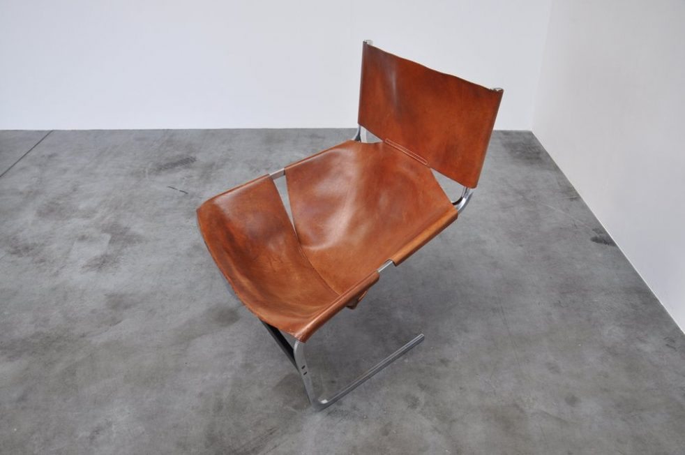 Pierre Paulin F444 Artifort chair in brown leather 1963