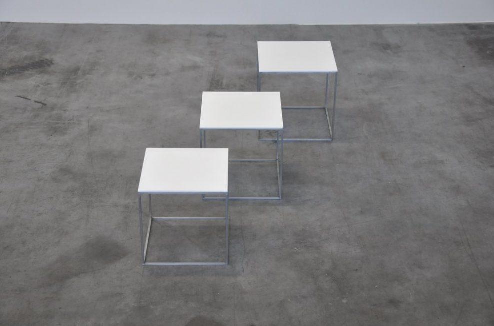 Poul Kjaerholm PK71 tables for E Kold Christensen Denmark 1957