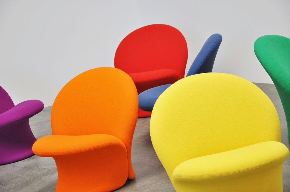 Pierre Paulin F572 Artifort chairs 1967