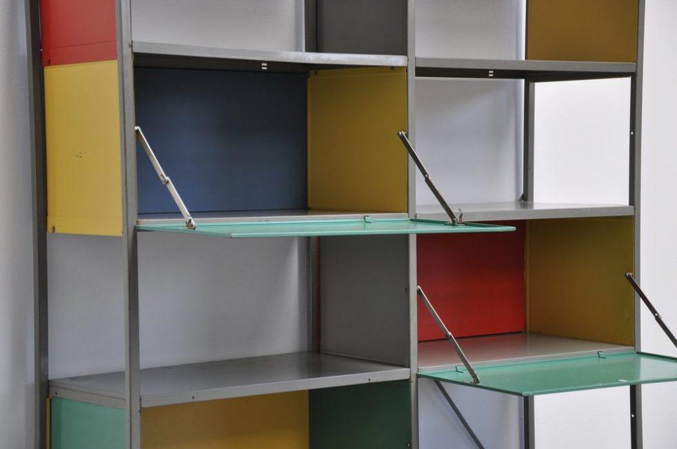 Wim Rietveld 663 Gispen bookcase unit 1954