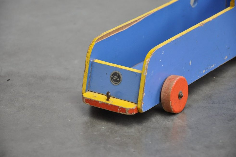 Ado Ko Verzuu decorative toy train ca 1950s