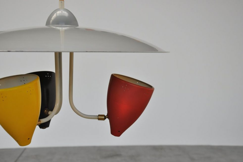 Hala HThA Busquet uplighter ceiling lamp 1955
