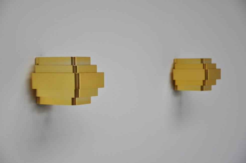 Jules Wabbes sconces pair, Belgium 1960