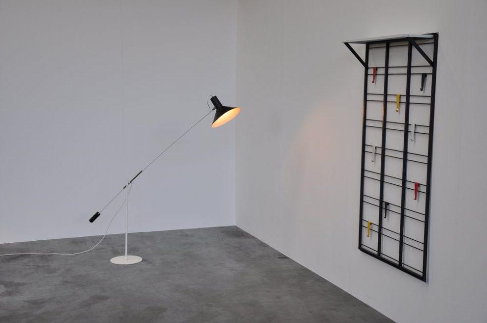 JJM Hoogervorst Anvia counter balance floor lamp Almelo 1950s