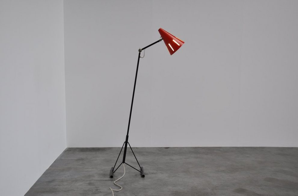 Hala HThA Busquet floor lamp from the Sun Series, Zeist 1955