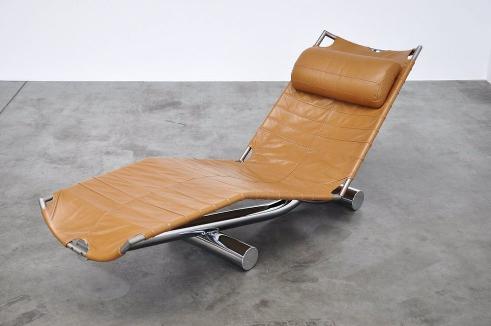 Paul Tuttle chariot chaise lounge for Strassle International 1972